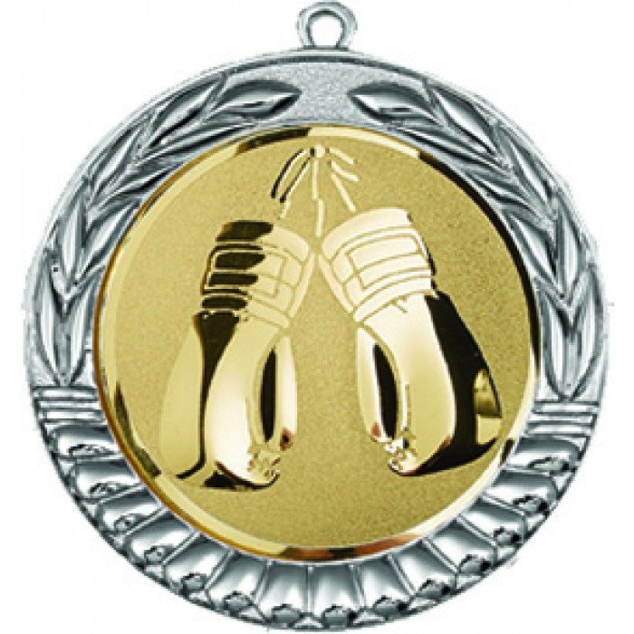 SILVER 70MM KICKBOXING MEDAL